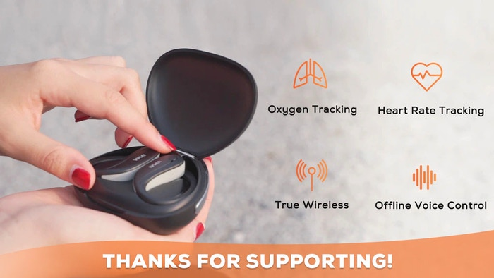 TWS Sport Earbuds | Heart Rate Monitoring | Oxygen & Respiration Rate Tracking | Exercise Feedback | Online & Offline Voice Control