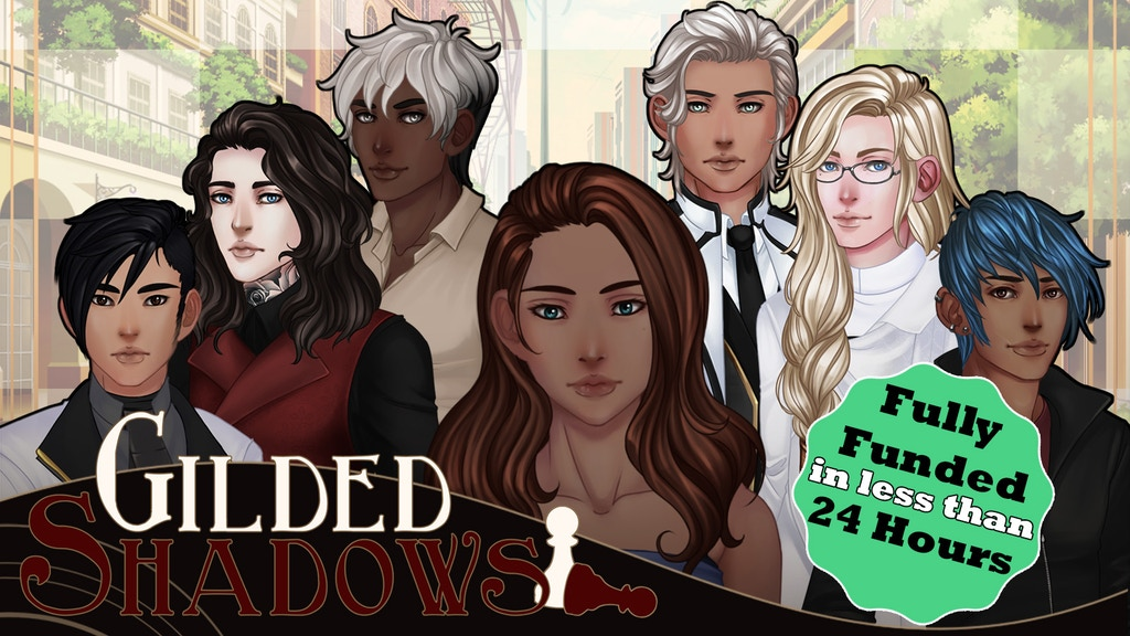 Gilded Shadows - a GxB sci-fi adventure otome game project video thumbnail