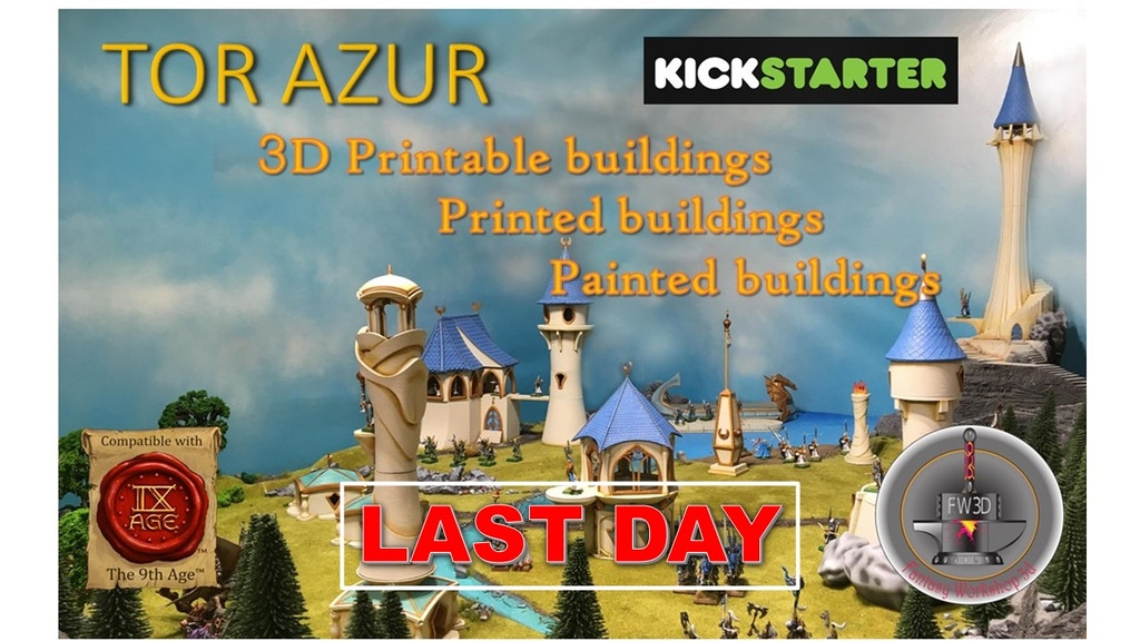 TOR AZUR building elve 3d printing for wargames 24 to 32mm project video thumbnail