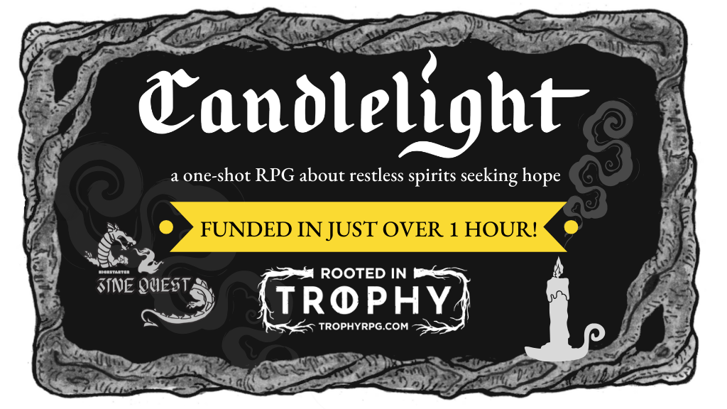 Project image for CANDLELIGHT - an RPG zine compatible with Trophy Dark