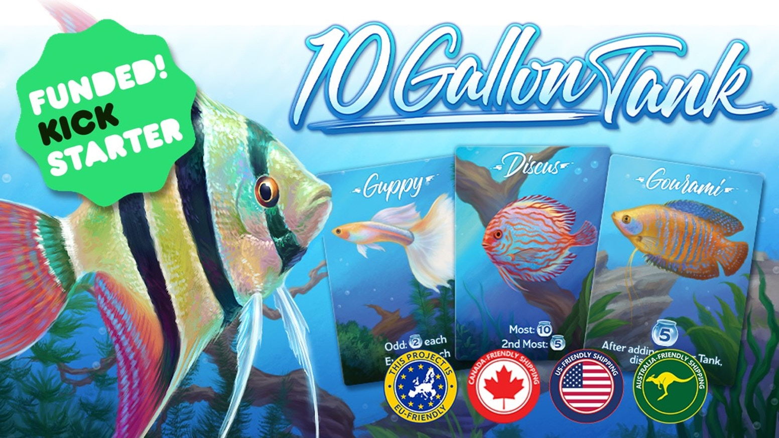 A split-and-choose card game where players take on the role of aquarists competing to stock the most aesthetically-pleasing aquarium.