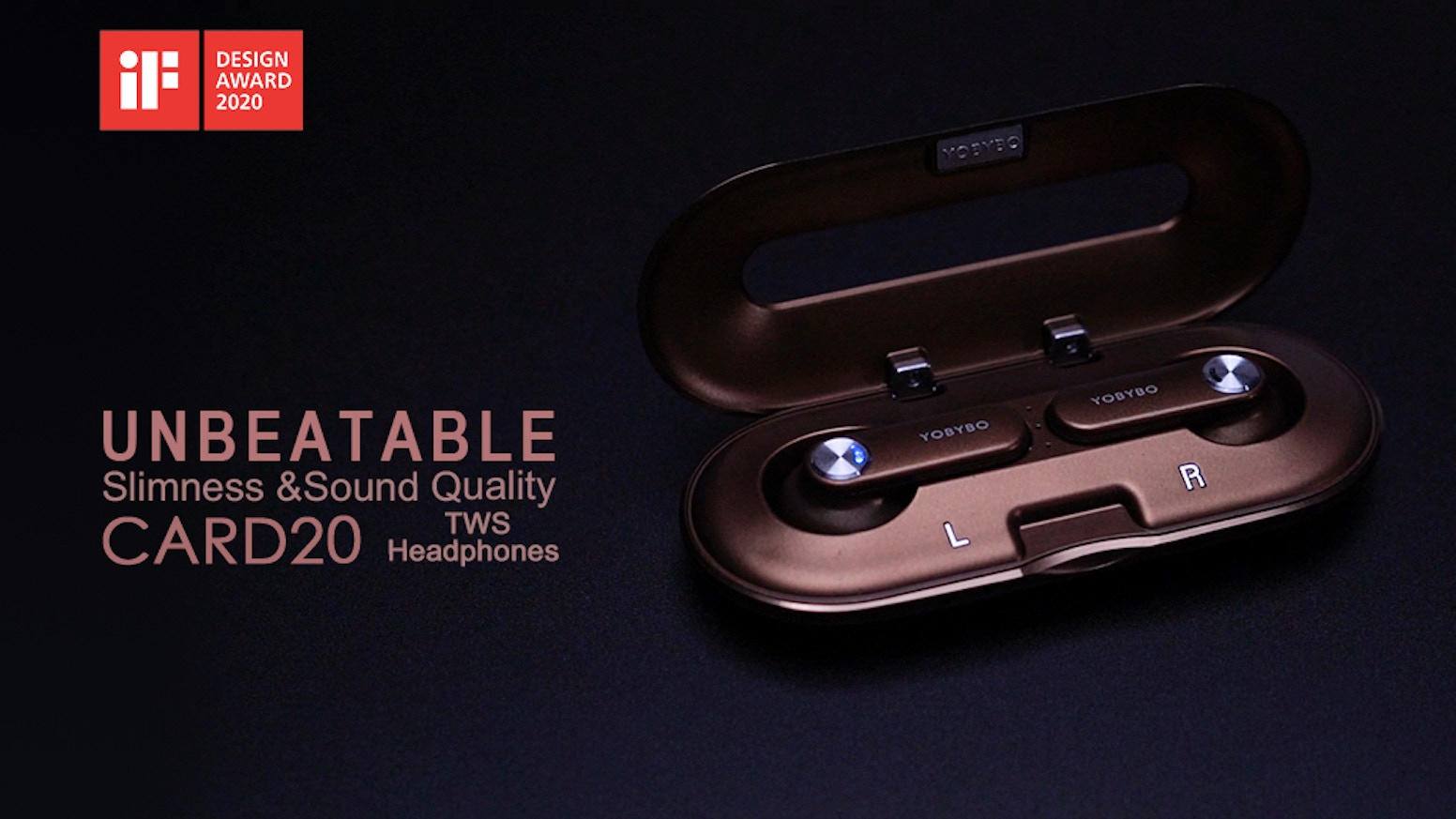 0.5in thick with case, 0.1oz/piece | Ergonomic fit & stability | Qualcomm BT5.0, aptX, cVc | Premium 13mm speaker driver | IPX4