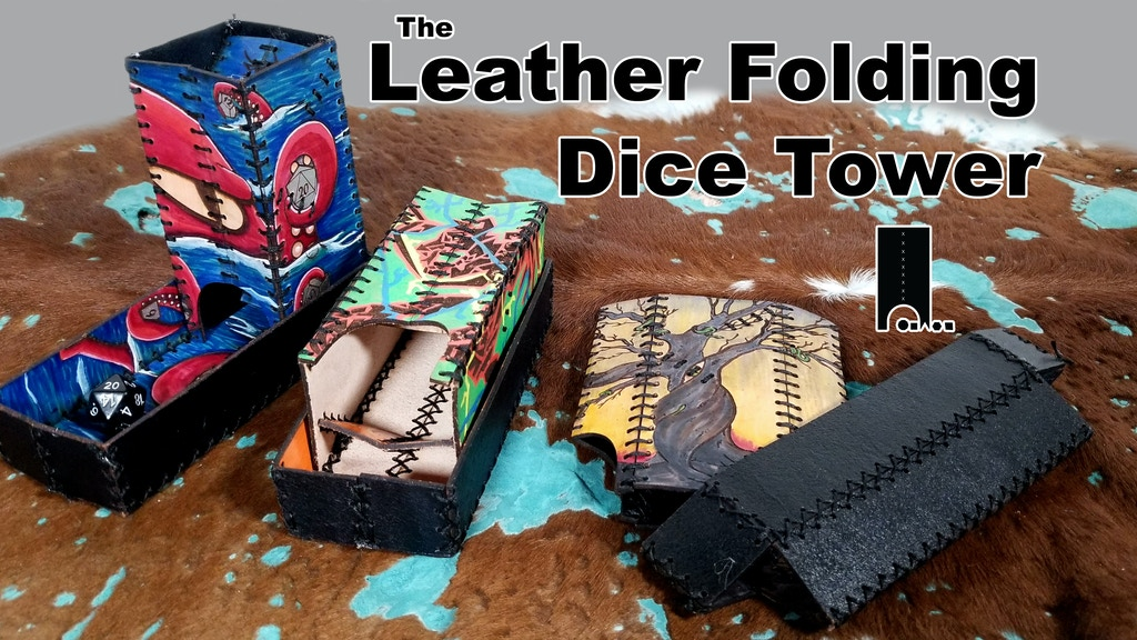 Leather Folding Dice Tower & Tray project video thumbnail