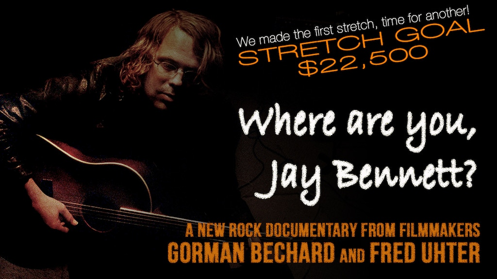 Where are you, Jay Bennett? documentary needs animation! project video thumbnail