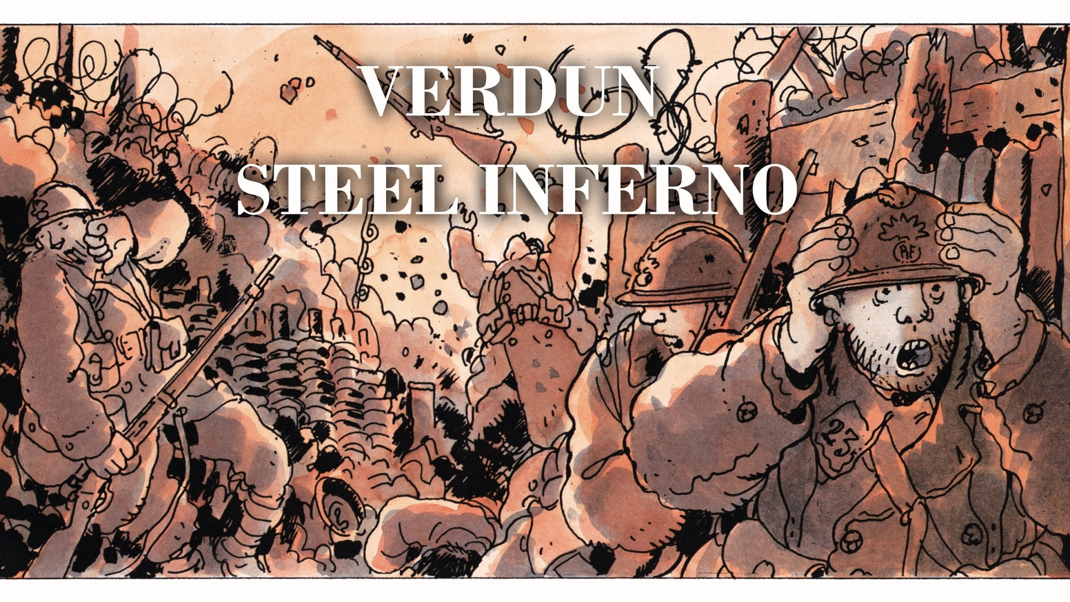 VERDUN: STEEL INFERNO: A fast playing card driven game on the epic battle of 1916. Illustrated by the famous WW1 cartoonist TARDI.For LATE PLEDGES (paypal at this stage) email us: fellowshipofsimulations@gmail.com