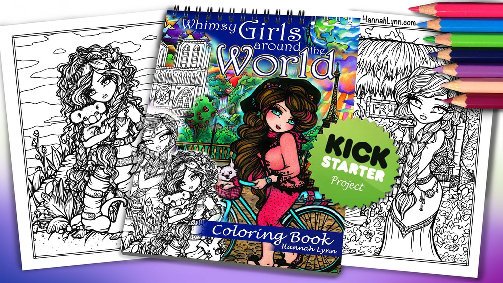 Project image for Whimsy Girls Around the World Coloring Book