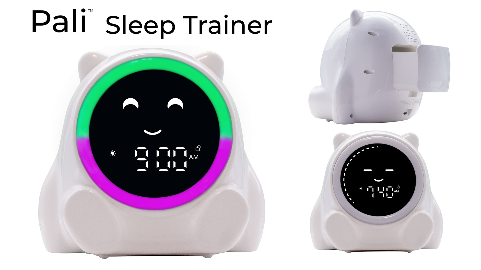 Has a visual timer kids can see and understand, and a positive reinforcement  drawer, to help your kids get more sleep.