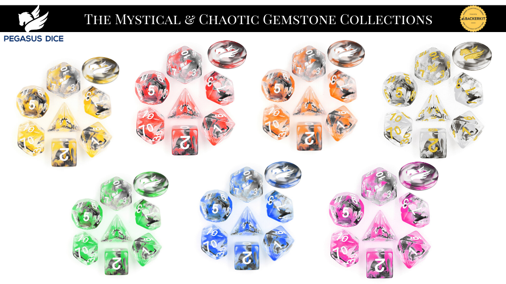 Project image for The Mystical & Chaotic Gemstone Dice - Pegasus Dice