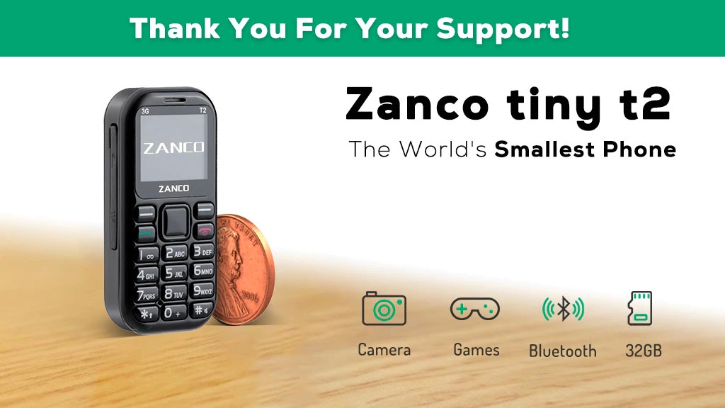 Zanco tiny t2, The World's Smallest Phone project video thumbnail