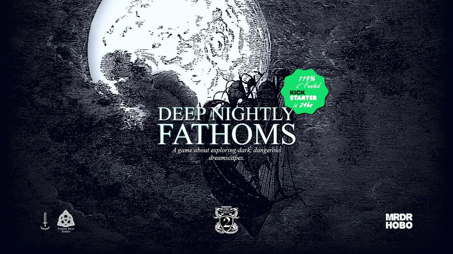 Deep Nightly Fathoms is an RPG exploring dark dreamscapes inspired by the beautiful engravings of XIX century artist Gustave Doré.