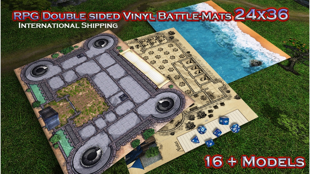 Project image for RPG Vinyl Battle-Mats 24 x 36 Double sided