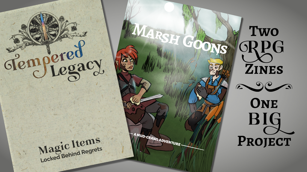 Project image for Two RPG Zines: Marsh Goons & Tempered Legacy