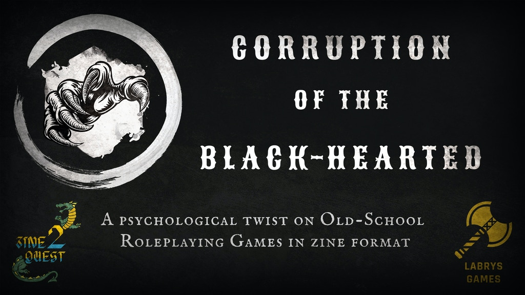 Corruption of the Black-Hearted - A Zine Quest RPG project video thumbnail