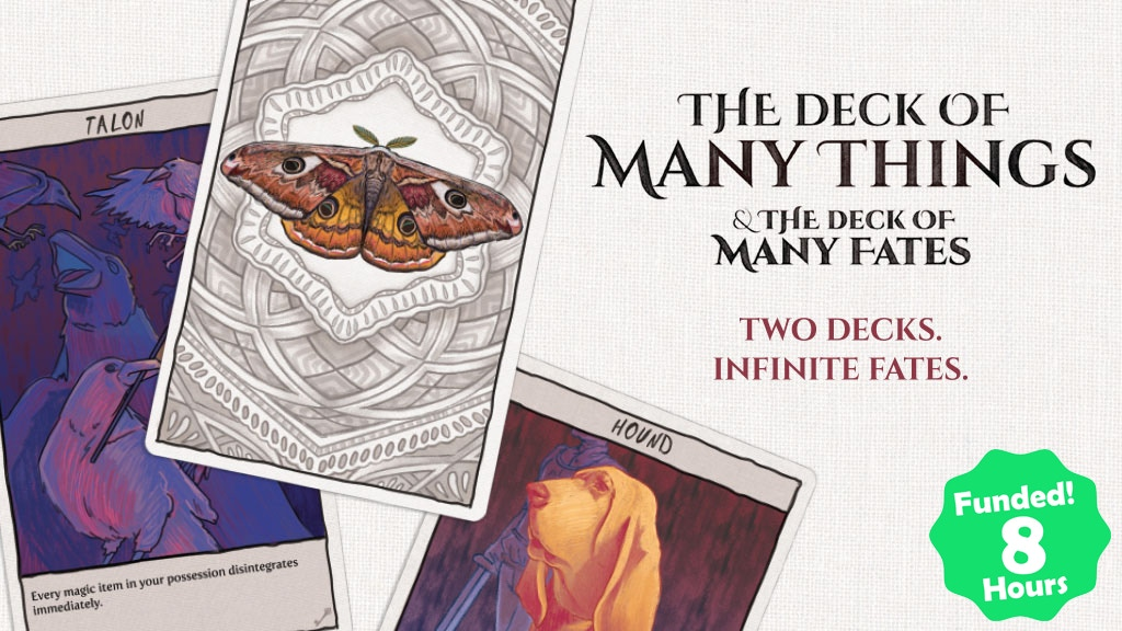 Project image for The Deck of Many Things & The Deck of Many Fates | RPG Cards