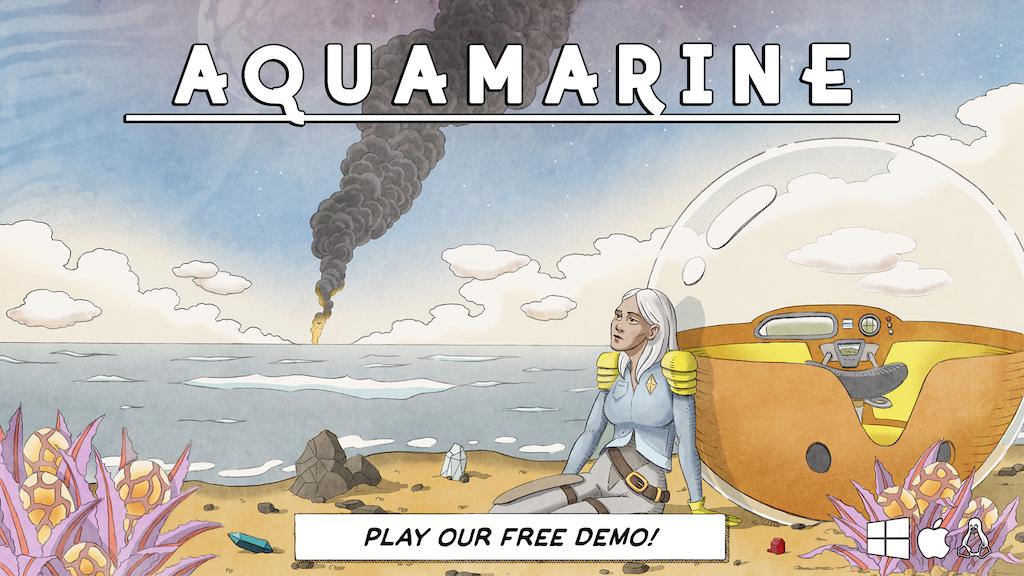 AQUAMARINE — A Quiet Survival Adventure in an Alien Ocean project video thumbnail