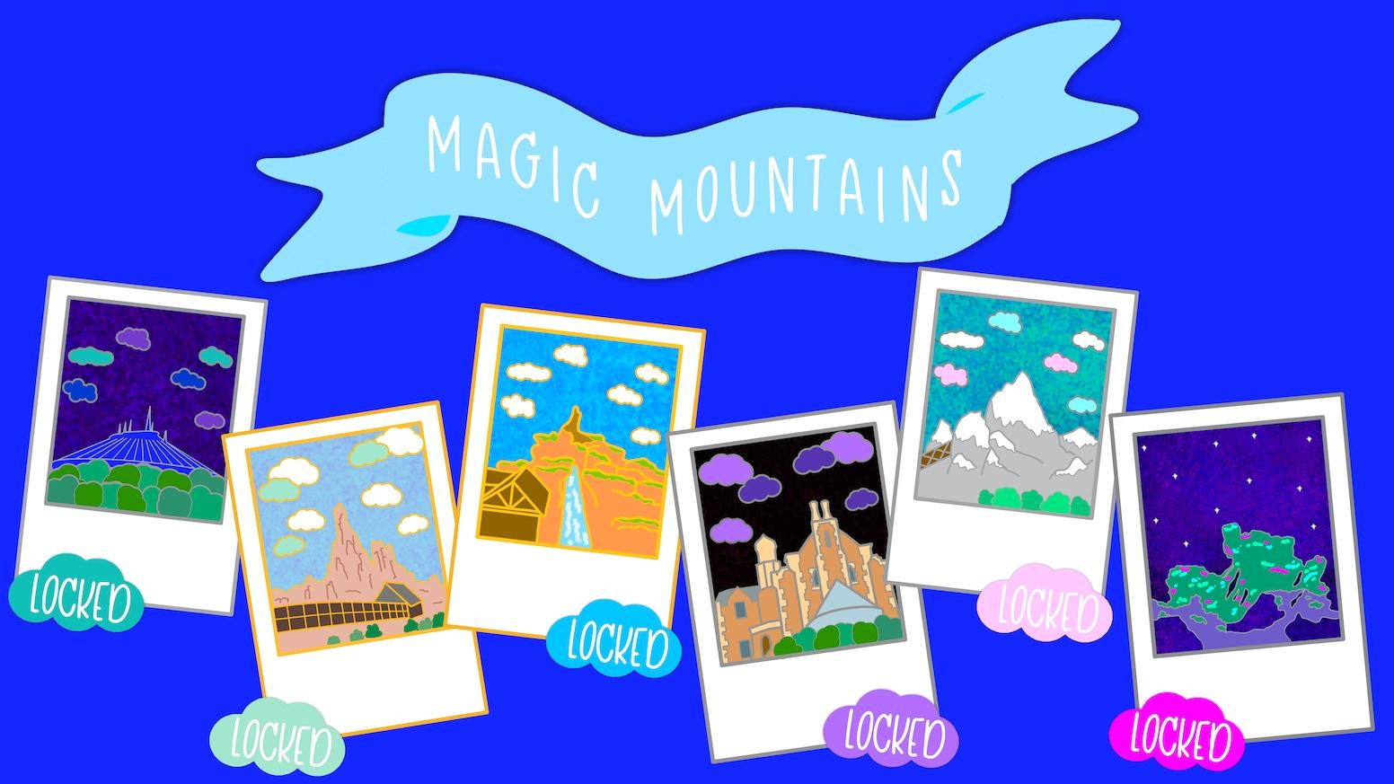 Magic Mountains Polaroid Pins