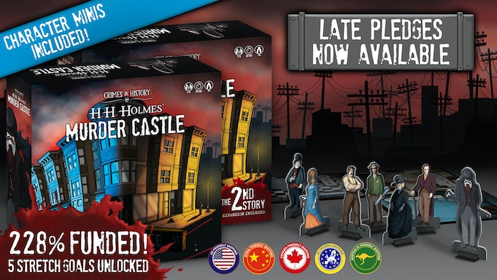 A game of backstabbing and thrilling absurdities! Collect evidence and battle each other across a sprawling castle for 1-7 players!