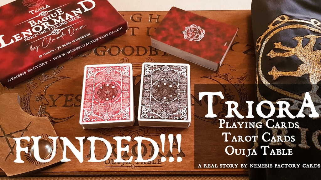 TRIORA PLAYING CARDS, TAROT & LENORMAND CARDS, OUIJA TABLE project video thumbnail