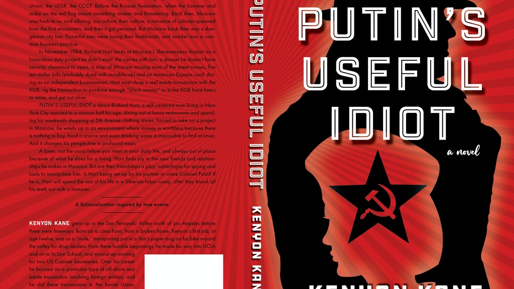 Project image for PUTIN'S USEFUL IDIOT - Fiction-Historical-Espionage Thriller