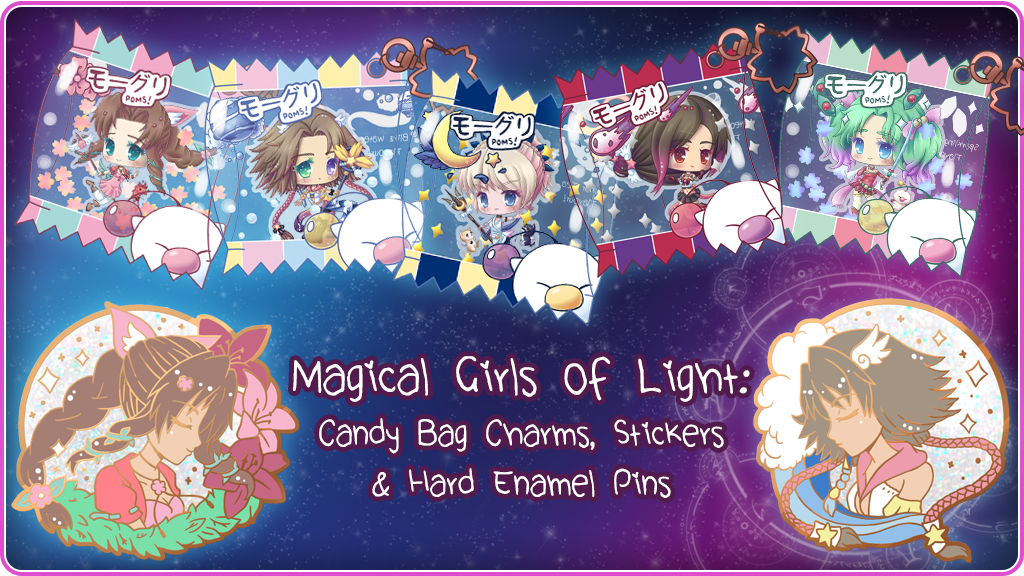 Project image for Magical Girls of Light: Candy Bag Charms and Enamel Pins