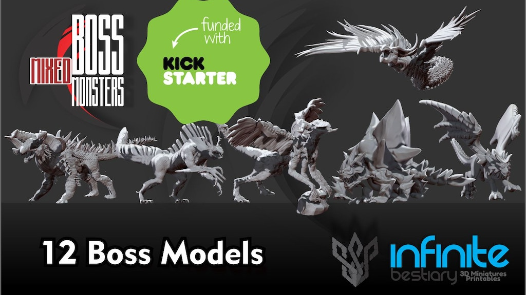 Boss Mixed Monsters 3d Printable War-Games. project video thumbnail
