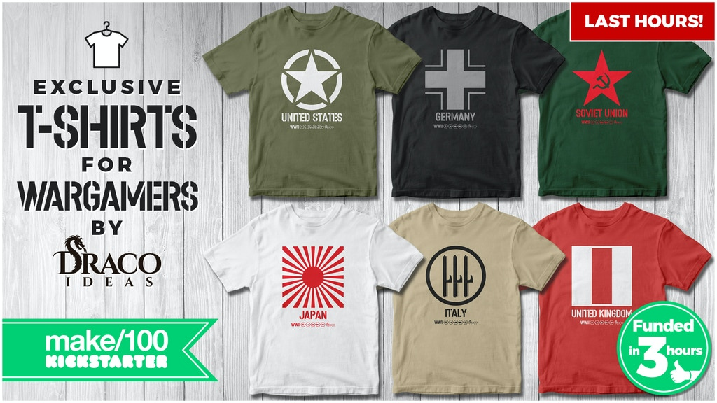 Project image for Make/100 T-shirts for wargamers