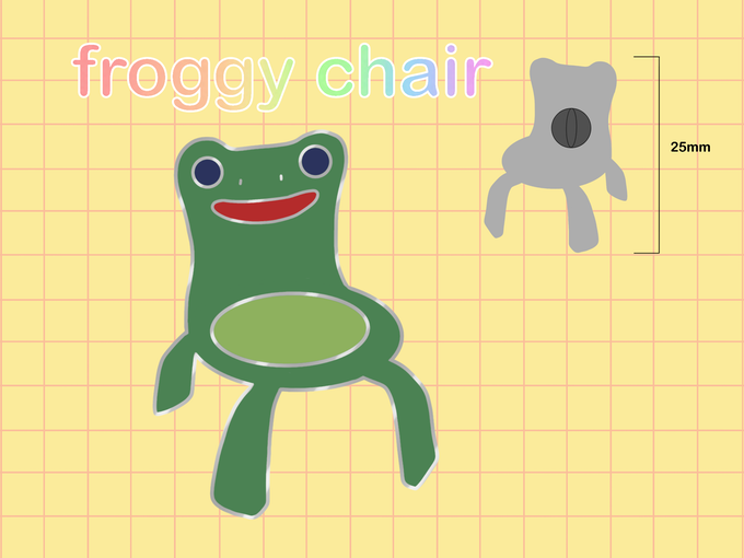 Froggy Chair Enamel Pin By Vienna Kickstarter