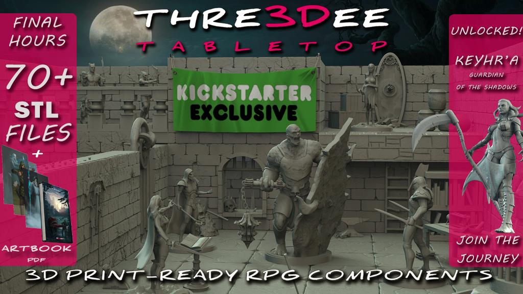 Thre3Dee Tabletop | 3D print-ready RPG components project video thumbnail