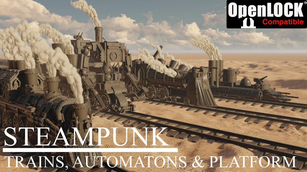 Steampunk: trains, automatons and platform project video thumbnail