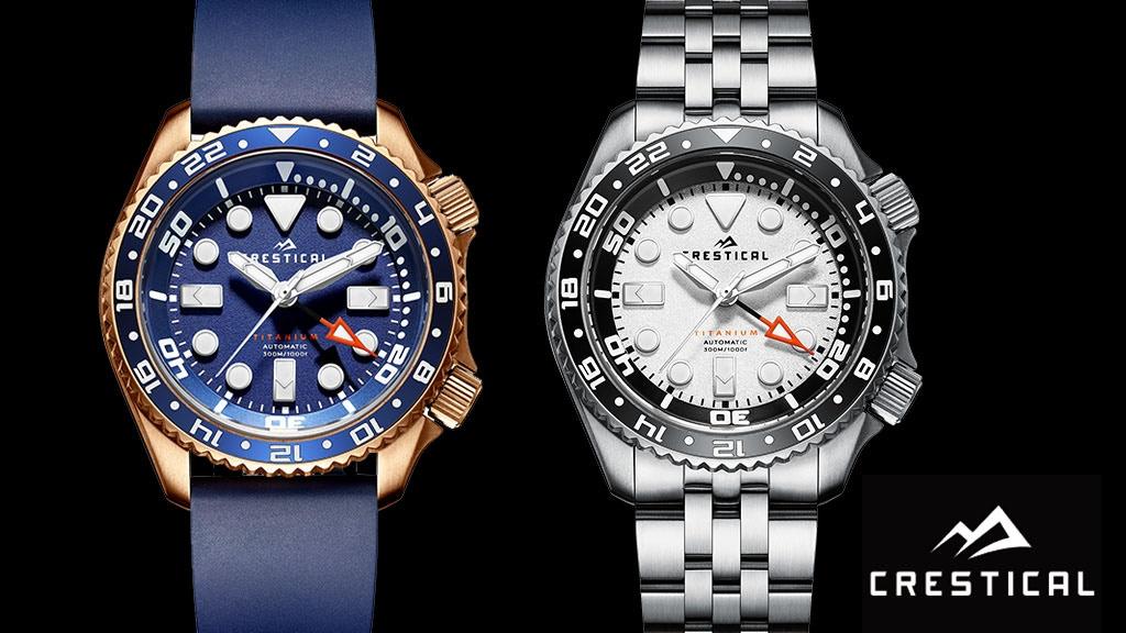 CRESTICAL TX-1 Titanium Customized Dive Watch project video thumbnail
