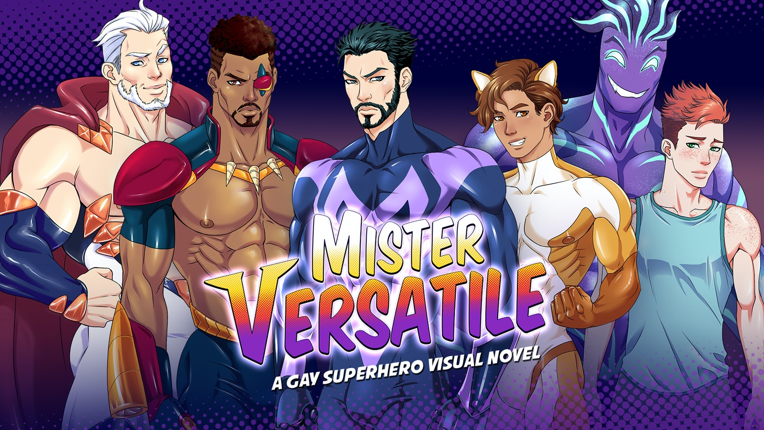 A Gay Bara Yaoi BL LGBT Superhero Visual Novel Game