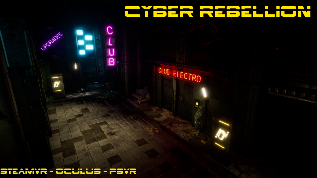 Project image for Cyber Rebellion VR a VR cyberpunk style game. (Canceled)