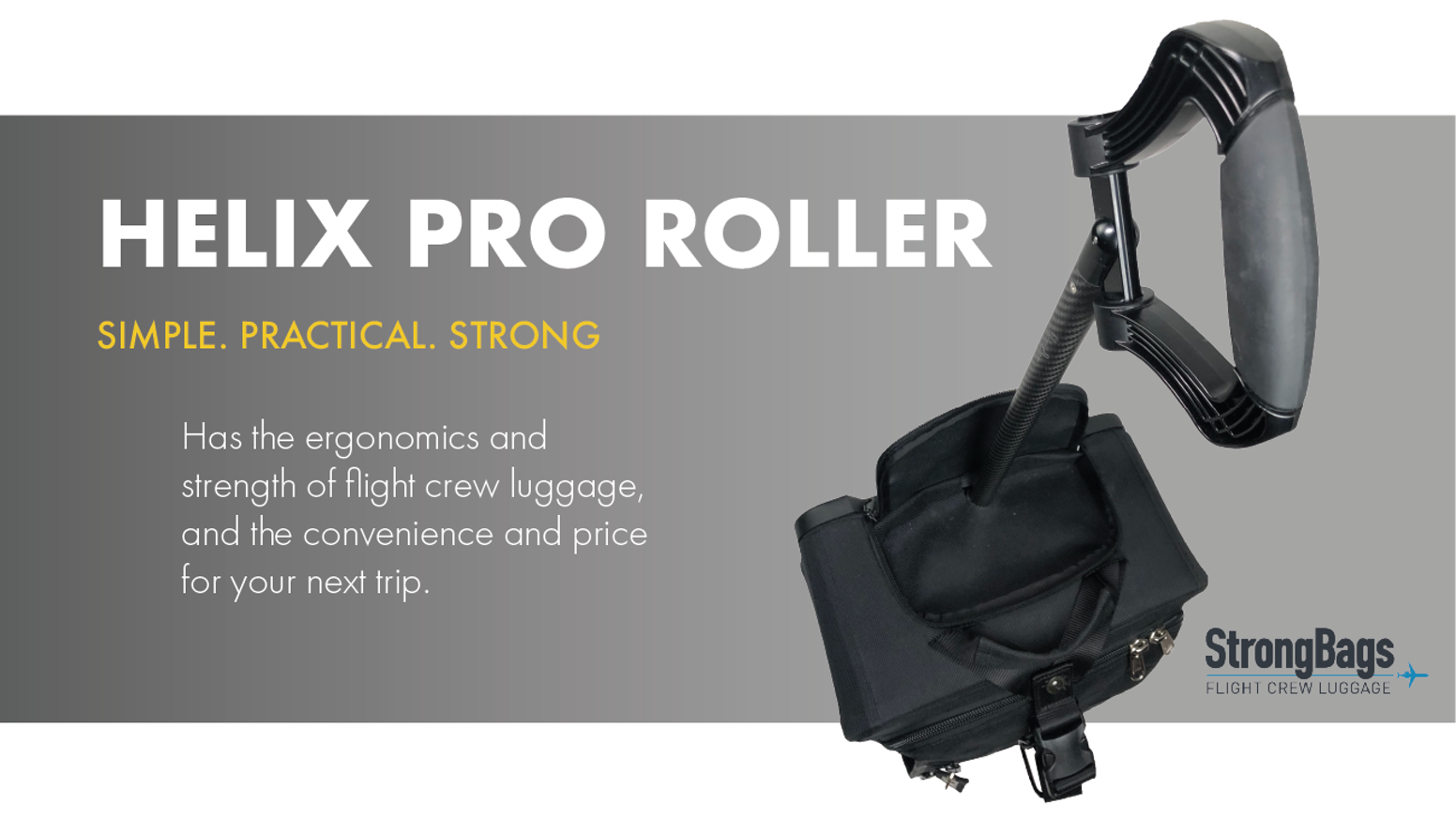 Simple, Practical, Strong. Introducing Flight Crew Luggage for Everyone.