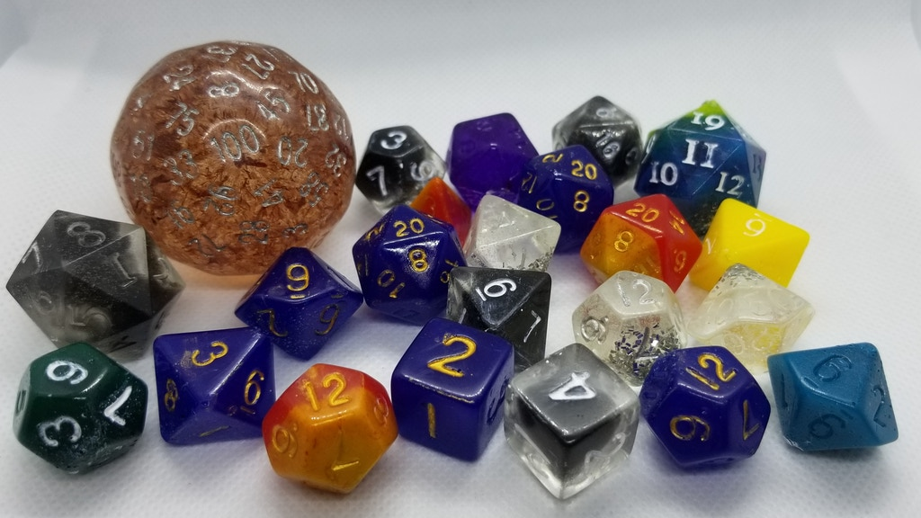 Project image for Fox Print Creations: Handmade Resin Dice