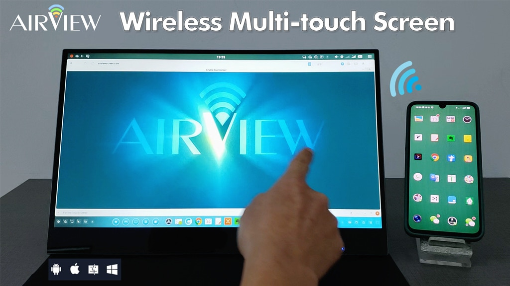 AirView — Wireless Multi-touch Screen project video thumbnail