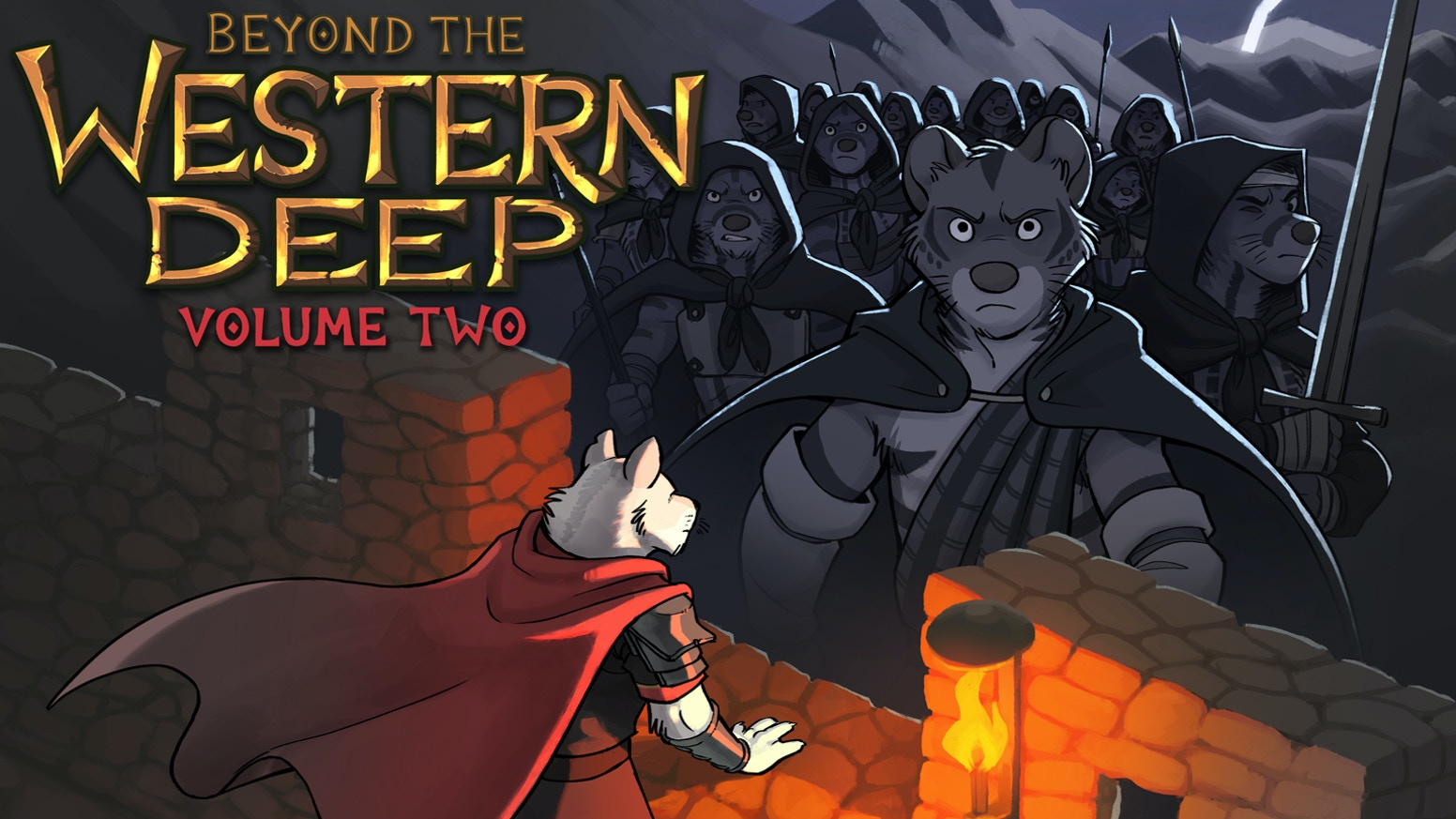 The all-ages fantasy webcomic BEYOND THE WESTERN DEEP returns to Kickstarter with its second hardcover volume!