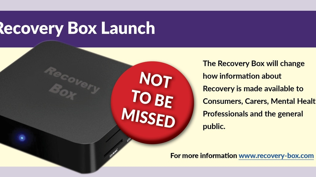 Recovery Box project video thumbnail