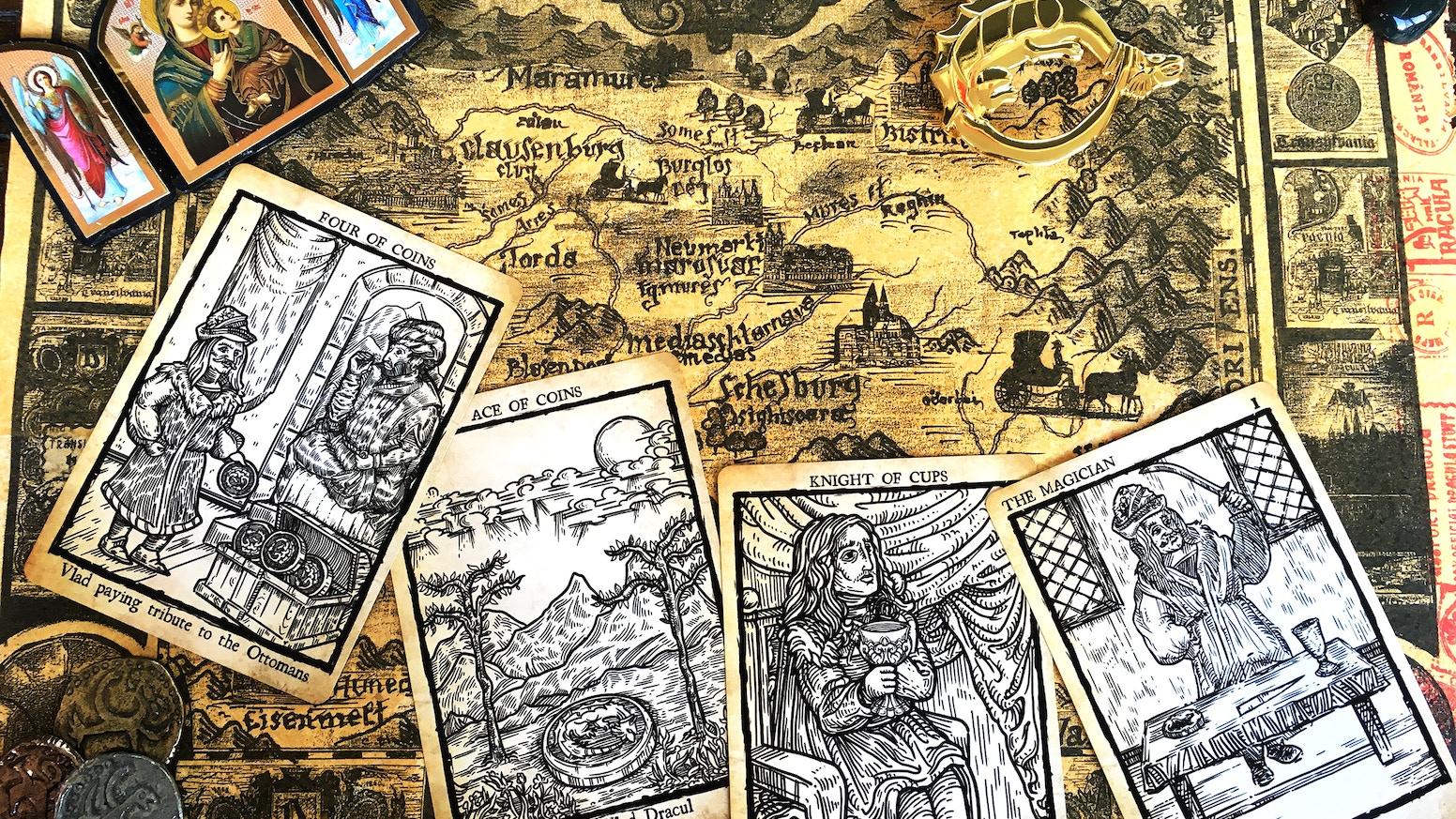 A 78-card Tarot deck based on the life of Vlad the Impaler, the medieval ruler who inspired Bram Stoker's legendary vampire.