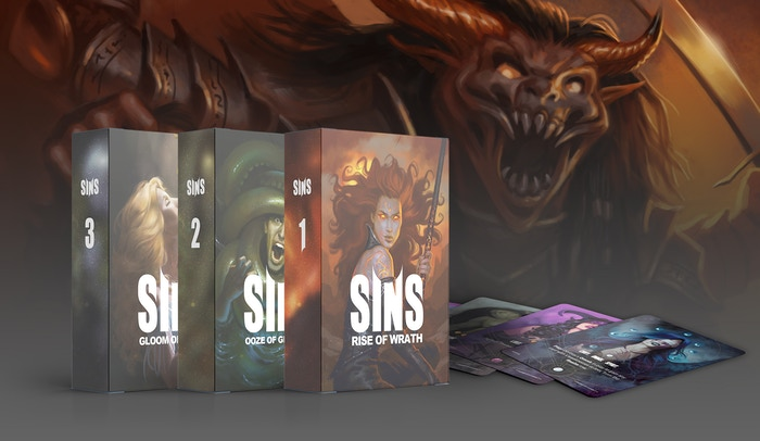 Choose your own path in this small action-packed deck-builder for up to 6 players or solo. Plays in 15 min per player.