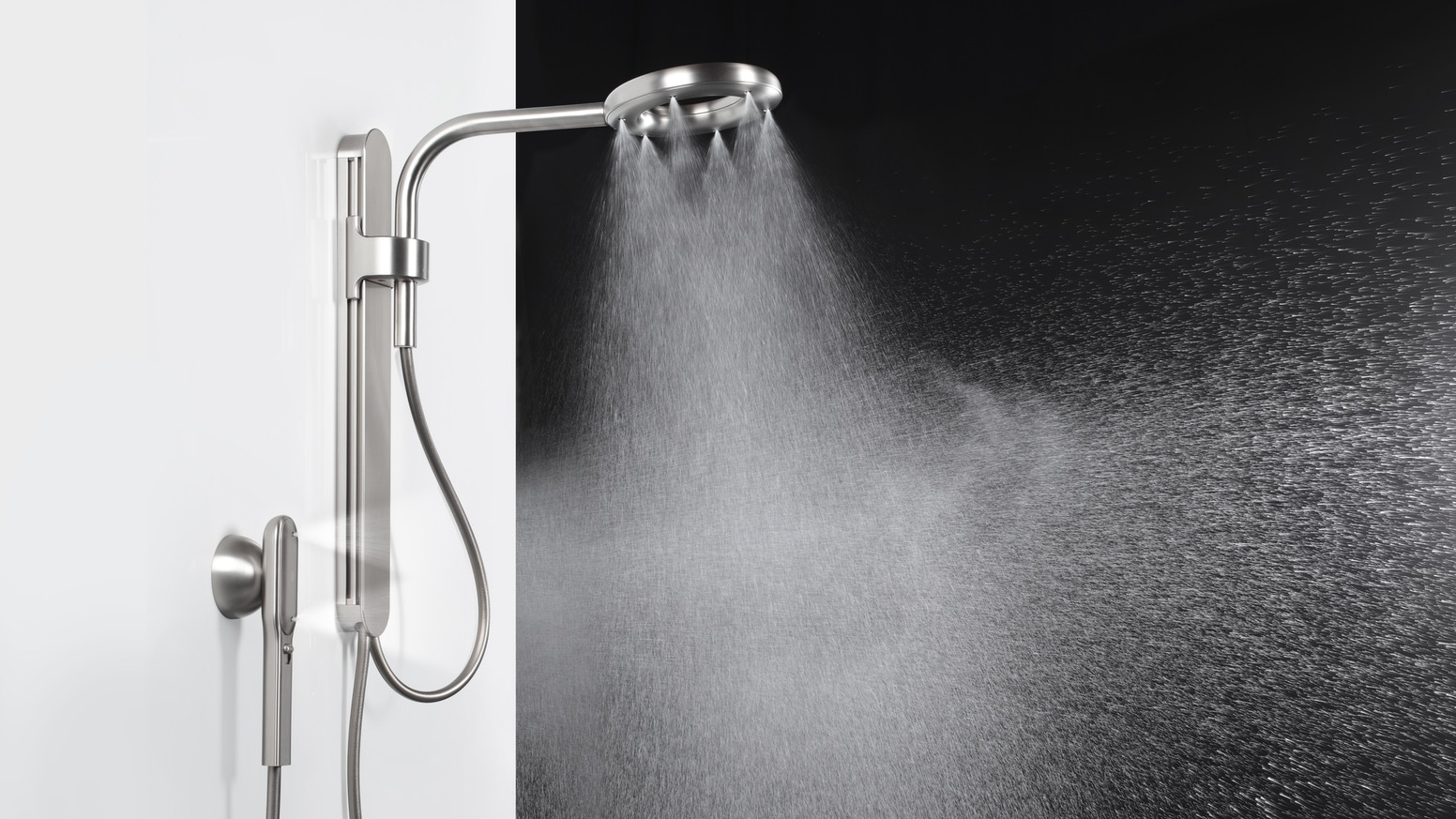 The future of showers. 2X more coverage saving half the water of standard showers.   More finishes, more power. Starting at $160.