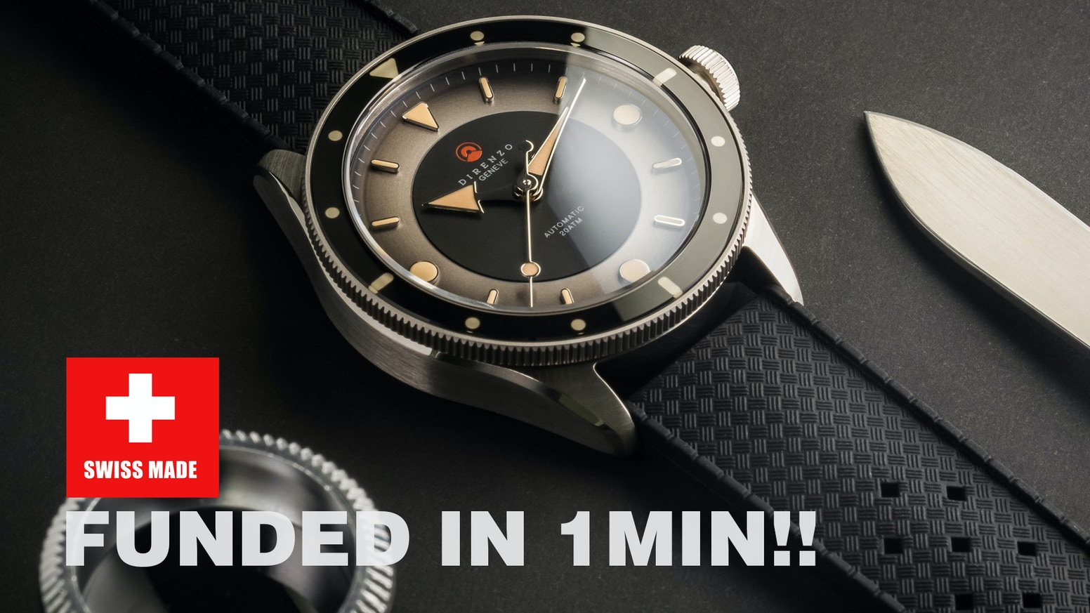 The Eclipse is a timepiece that pays homage to iconic dive models from the 60s. Top quality timepiece build to last.
