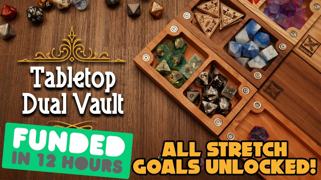 Project image for Dual Tabletop D&D Dice Vaults