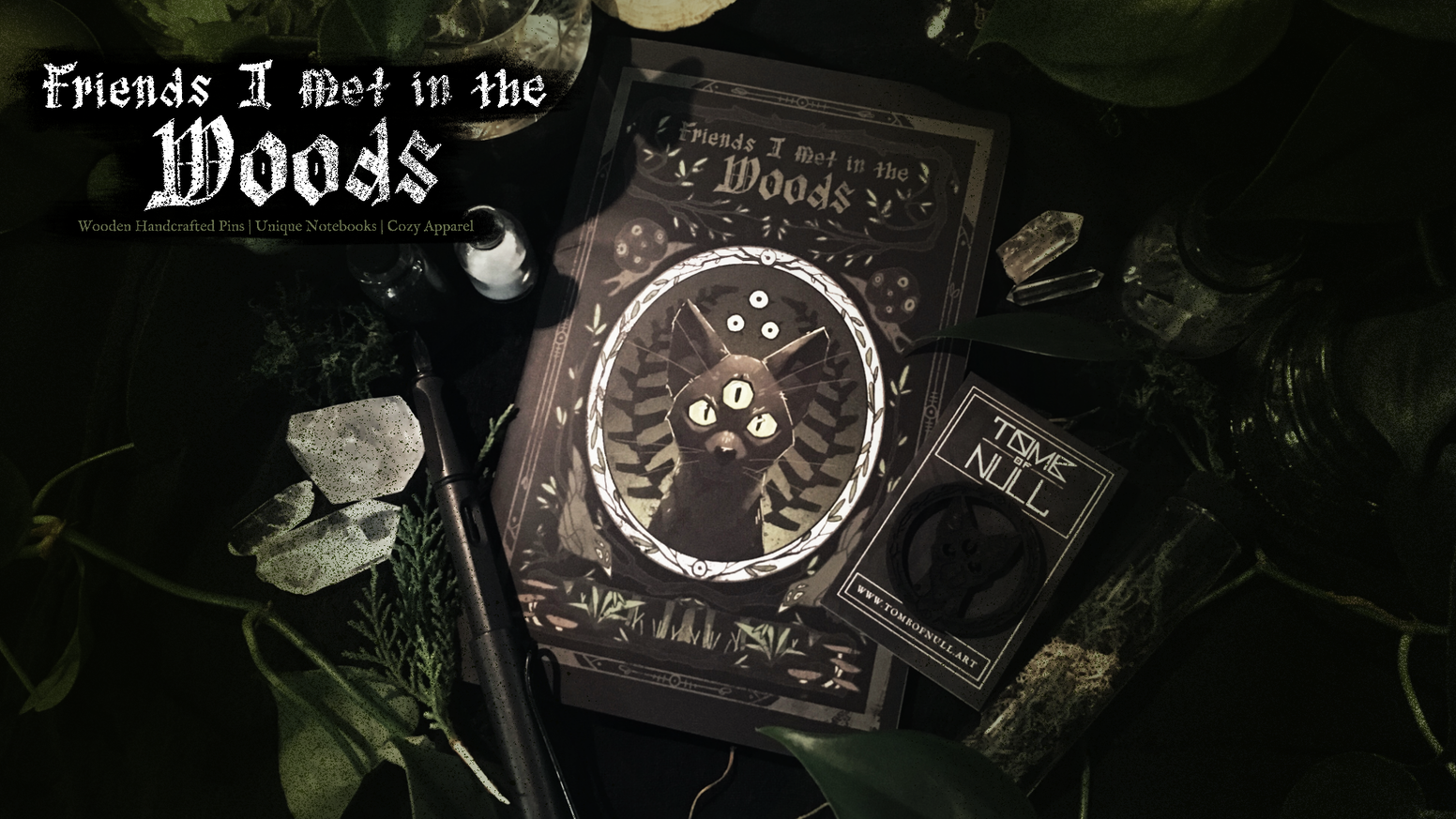 Artisan notebooks, handmade wooden pins, and apparel for the curious adventurer.