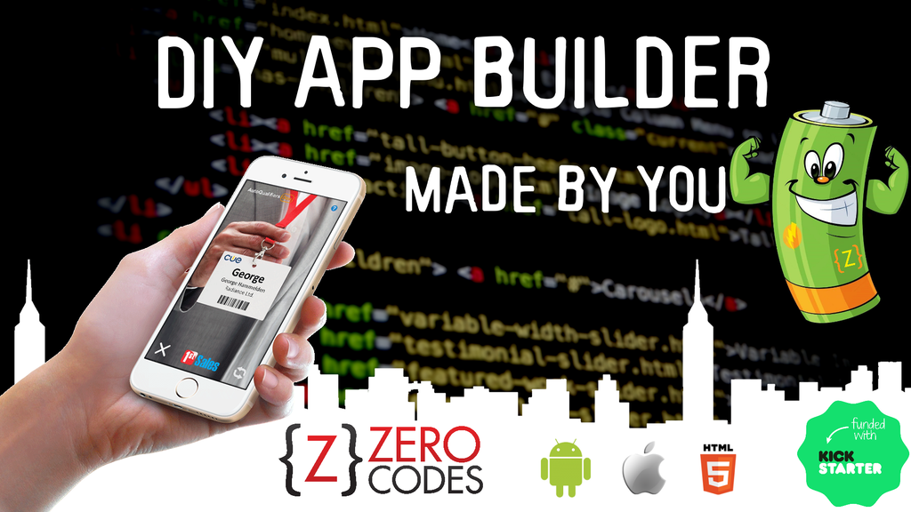 Zero Codes Recharged - DIY app builder, apps made by you! project video thumbnail
