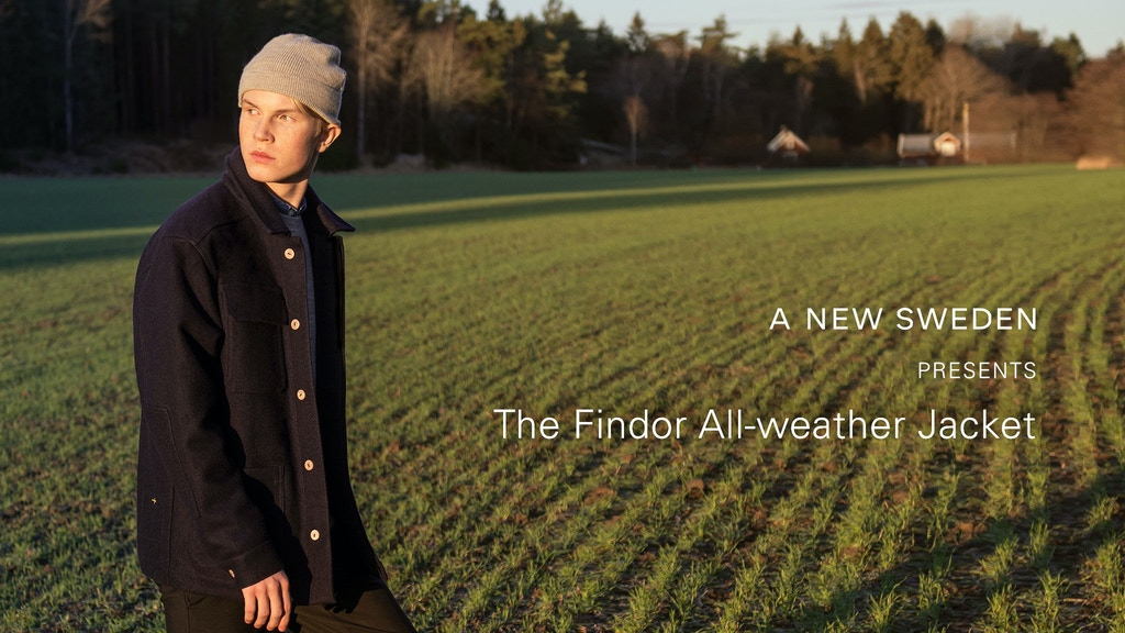 The all-natural, all-weather wool jacket from A NEW SWEDEN project video thumbnail