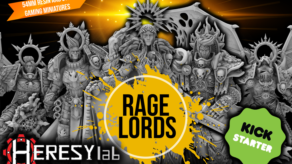 Rage Lords 54mm Female Quality Resin Miniatures by HeresyLab project video thumbnail