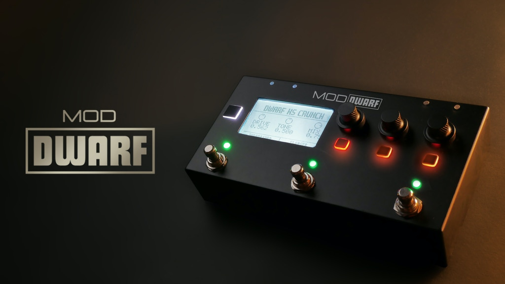 MOD Dwarf: The smart, compact and powerful pedal brain project video thumbnail
