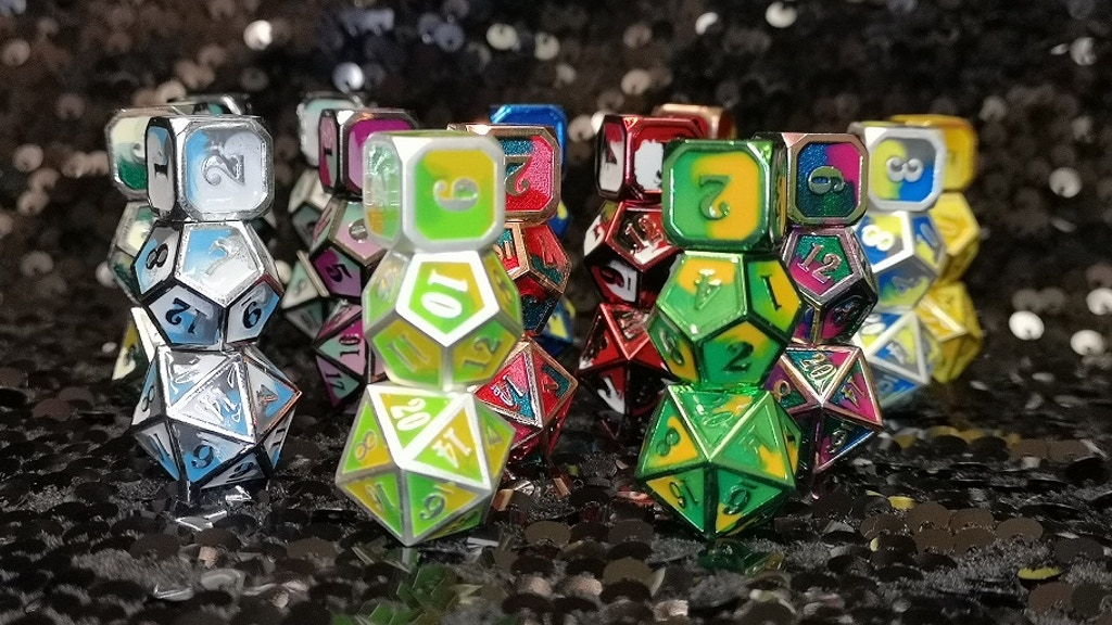 Project image for Wyrmling Dice by Dragon Wing Metal (Canceled)