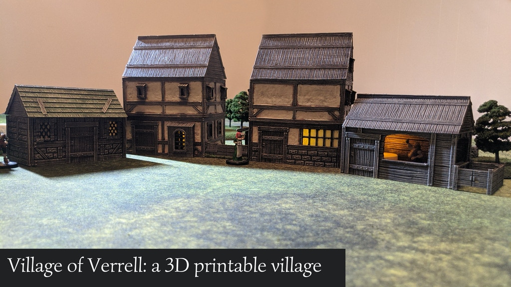 Village of Verrell: a 3D printable STL village project video thumbnail