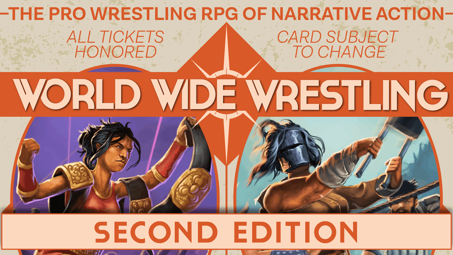 The next chapter for the professional wrestling roleplaying game of narrative action!